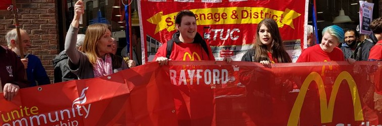 Crayford Strikers at Watford protest