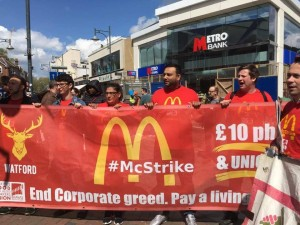 Watford strikers at protest