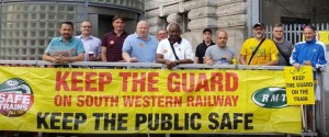 RMT South West Railway Waterloo picket July 26