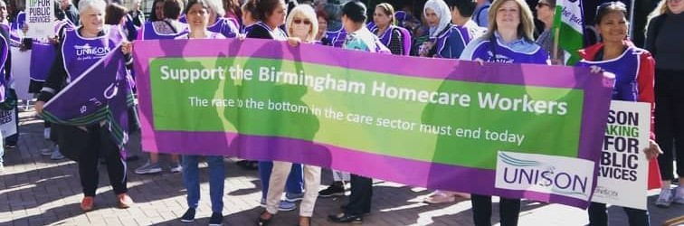 Birmingham homecare strike