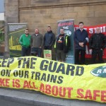 Newcastle Northern Rail strike picket