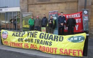 Newcastle Northern Rail strike picket