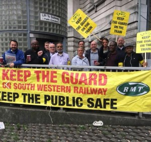 RMT SWR Waterloo picket Aug 18