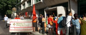 NSSN supporting August 7th MOJ picket