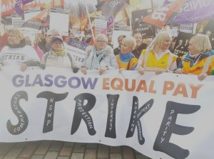 Glasgow equal pay strike Oct 23