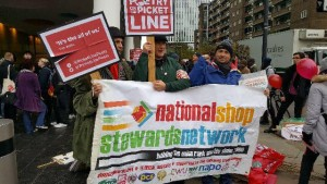 NSSN and 'Poetry on the Picket Line' on IWGB demo