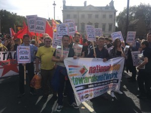 NSSN on Oct 13 anti-DFLA counter-protest with PCS assistant general secretary Chris Baugh