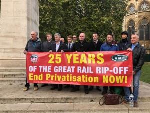 RMT 25th anniversary privatisation
