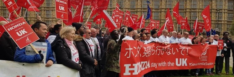 Honda workers lobby Parliament on March 6th