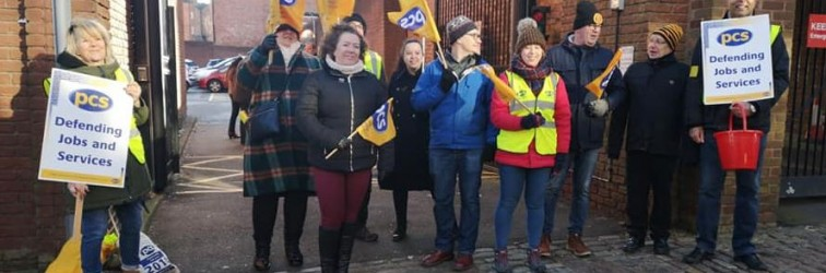 PCS Wolverhampton Universal Credit strike March 11