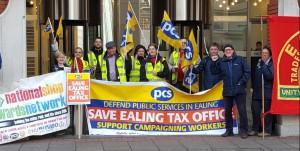 Ealing Tax Office strike