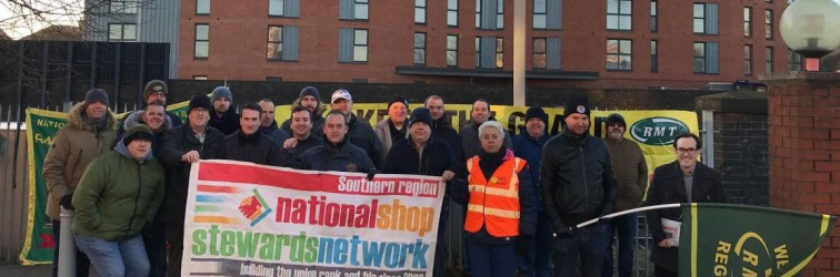 RMT Fratton picket NSSN snip