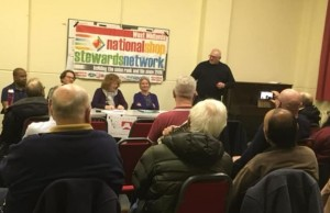 Clive Walder speaking at Coventry NSSN public meeting