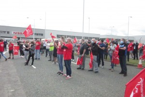 Nissan pensions protest