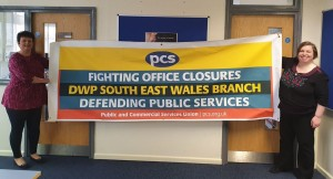 PCS DWP SE Wales branch on IWMD with NSSN vice-chair and PCS DWP vice-president Katrine Williams