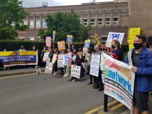 NSSN supporting PCS Tate Modern strike Aug 18