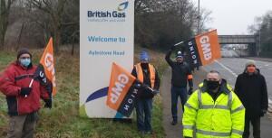 Leicester British Gas picket