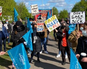 NEU strike at Beal School, Redbridge