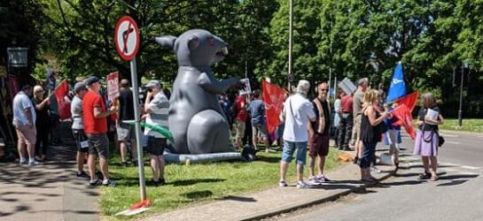 JDE workers on strike on 5 June