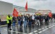 NE Sparks protest outside Amazon in Gateshead