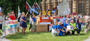 'NHS Workers Say NO' parliamentary protest 20 July