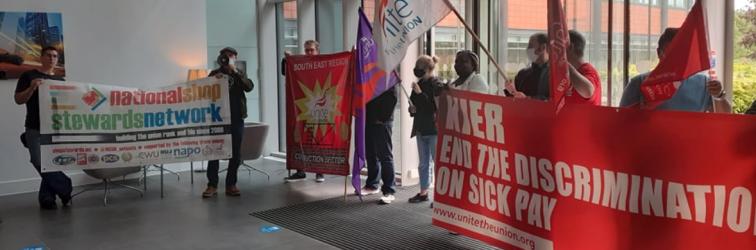 Unite protest Basingstoke in support of Kier motorway workers